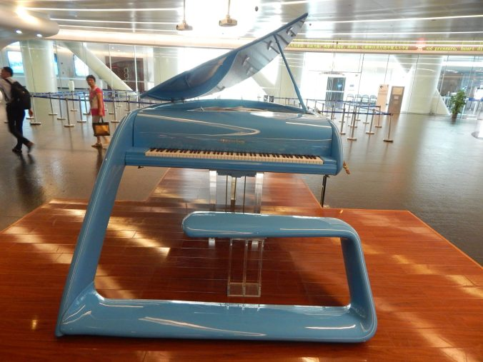 The Jetson looking piano that was in the lobby of the Canton Tower. A company in GZ teamed up with a German company to create it.